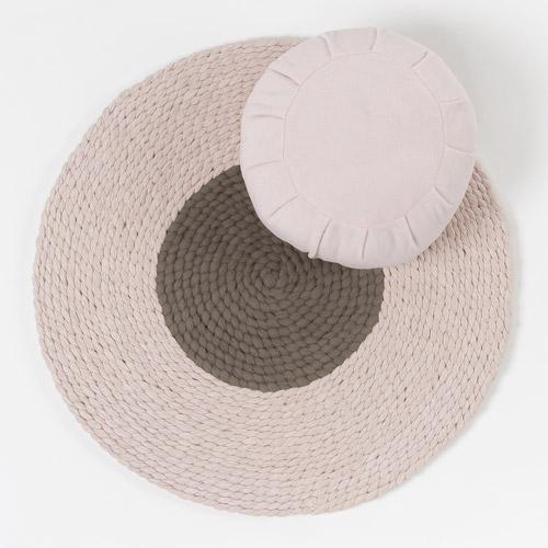 tapis méditation beige aokas